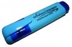Текстмаркер 1-5мм голубой Leto клин/жало оптом