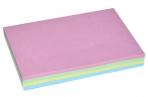 Блок с липким краем, 100 листов, 4 цвета, пастель, МИКС оптом