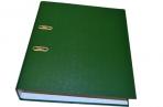Папка-регистратор 70 мм, hatber, бумвинил, зеленая оптом