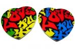 "Магнит-пластик Сердце МС-1331 ""LOVE"", 4 асс /12 /0 /1200 оптом"