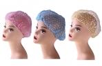 Набор шапочек для душа, 3 шт, полиэтилен, цвет МИКС оптом