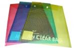 Папка-конверт с кнопкой MY CLEAR BAG, прозрачная, ф. A4, вертикальная, ассорти оптом