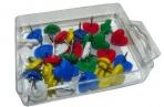 Кнопки силовые 10256 с сердечком, цветные, пластик, 35шт J. Otten /24 /0 /480 оптом
