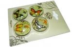 """Магнит-стекло 0172 """"Бабочки"""", 3, 0см, 4 асс /4 /0 /1152 оптом"""