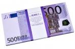 """Деньги шуточные """"500 евро"""", упаковка с ероподвесом, ш/к 72458 оптом"""