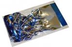 НГ Дождик новогодний, ширина 75мм, длина 1, 5м, ассорти 4 цвета, Д-304 оптом