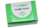 Кнопки 12 х 10 мм, никелированные в картонной коробке, 50 шт. оптом