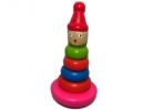 """Игрушка деревянная MT010 """"Пирамидка"""", 17 см /1 /0 /100 оптом"""