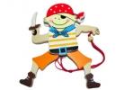 """Игрушка деревянная 13924 """"Маленький пират"""", 13*8 см, асс /1 /0 /600 оптом"""