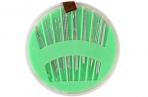 Иглы швейные в пластиковой коробочке, 24 шт, цвет МИКС оптом