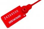 Пломбы пластиковые номерные, самофиксирующиеся, длина рабочей части 320 мм, красные,, 602472 оптом