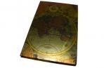 """Книжка зап. 80л, 080HDU """"Карта"""", 9, 5х14см, 70гр, клет, выруб, тв. обл, фольга /1 /0 /60 оптом"""