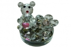 "Сувенир из стекла 0156 ""Мишка с алмазами"", 6 см /1 /0 /120 оптом"