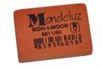 """Резинка стирательная KOH-I-NOOR """"Mondeluz"""", прямоуг, 31х21х7мм, оранжевая, картонный дисплей, 6811/60 оптом"""