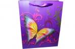 "Пакет подар. бумага 3800 ""Бабочки-красавицы"" 21*26*10 /12 /0 /600 оптом"