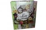 "Пакет подар. бумага 3803 ""LOVE"" 17*21*8, 5 /12 /0 /840 оптом"