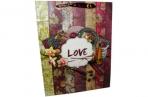 "Пакет подар. бумага 3803 ""LOVE"" 31*40*12 /12 /0 /360 оптом"