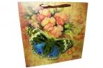 """Пакет подар. бумага 4552 """"Бабочки"""" 30*30*11 /12 /0/480 оптом"""