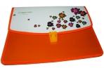 """Папка-портфель 2855 """"Цветы"""", 2 отд, 34х25 см, пластик/115мк J. Otten /1 /0 /72 оптом"""