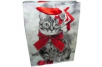 "Пакет подар. бумага 5159-2 ""Новогодние коты"", 26х32х10см, асс /12 /0 /384 /0 оптом"