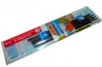 Стержни 614 синие с ушками набор 3шт+1 красный в подарок, 107мм, 0, 7 /120 /0 /1200 /0 оптом