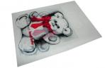 Пакет с прорубной ручкой 48-3B Мишка, 38*50см, целлофан /100 /500 /6000 оптом