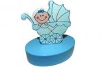 """Шкатулка 6102-blue """"Новорожденный"""", овал, d- см, голубой, пластик J. Otten /12 /0 оптом"""