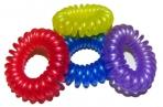 Резинка для волос 4515 Пружинки пластик, d-3. 8см, цена за 1 резинку, цв. асс /100 /0 /10000 /0 оптом