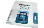 Носители информации Карта памяти Kingston SD /1GB (Secure Digital Card ) оптом