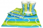"""Набор для праздника """"Радость"""". В наборе: 6 тарелок, 6 чашек, 6 салфеток, скатерть 130см*180см.,  (ACTION!) оптом"""