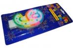 Свеча для торта нумерологическая 9, разноцветная, 7см,  (ACTION!) оптом