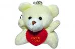Брелок-мягкая игрушка Мишка с сердцем, 5см оптом