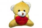 Брелок-мягкая игрушка Мишка с сердечком, 5см оптом