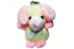 Брелок-мягкая игрушка Собачка розовая, 6см оптом