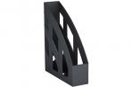 """Лоток вертикальный для бумаг ERICH KRAUSE """"Basic"""", ширина 75 мм, черный, 15119 оптом"""