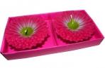 набор 2 свечи АСТРЫ розовые 7см оптом