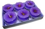 набор 6 свечей-картриджей МАРГАРИТКИ сиреневые 4см оптом