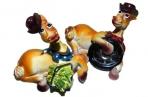 сувенир КОНЬ КОВБОЯ на отдыхе 6см разноцветный оптом
