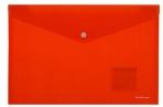 "Папка-конверт с кнопкой А4 красная непрозрачная, , ERICH KRAUSE ""Classic""до 120 л, 0, 18 мм, 42922 оптом"