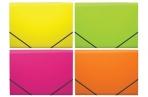 """Папка на резинках 6 отделений А4, ERICH KRAUSE """"Glance Neon"""" до 300 листов, 600 мкм, ассорти, 43122 оптом"""