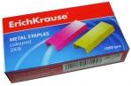 Скобы 24 цветные, ERICH KRAUSE, до 20 листов, 7145 оптом