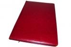 Еженедельник NATURE, кожзам, красный, лин., недатиров., ляссе, 128с., ф. А4 (225*320мм),  (INDEX) оптом