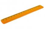 Линейка пластик 16см флю прозр.  (4 цв. ), Стамм оптом