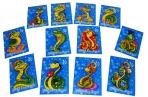 Магнит Змея 12 видов 5*7 оптом