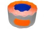 Этикет-лента МЕТО большая универсальная (волна) 26х12 (700эт. /200рол. ) оранжевая оптом