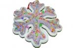 Украшение декоративное СЛАДКАЯ СНЕЖИНКА, 1 шт, 18 см, 2 вида, в пакете, полимерный материал,  (WINTER WINGS) оптом