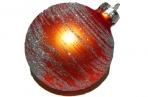 Набор шаров ПОЗЕМКА, стеклянных, матовых, 1 шт. в картонной коробке, 7 см, 1 цв.,  (WINTER WINGS) оптом