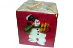 Подсвечник НОВОГОДНИЕ ГЕРОИ, 1 шт, 6*6 см, 4 вида, керамика, в пакете,  (WINTER WINGS) оптом