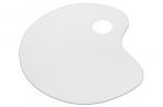 Палитра для рисования СТАММ пластиковая, малая, плоская, без ячеек, ПА30 оптом