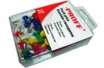 """Кнопки-гвоздики цветные 50 шт. /в пластиковой блистерной упаковке с европодвесом """"Proff"""" оптом"""